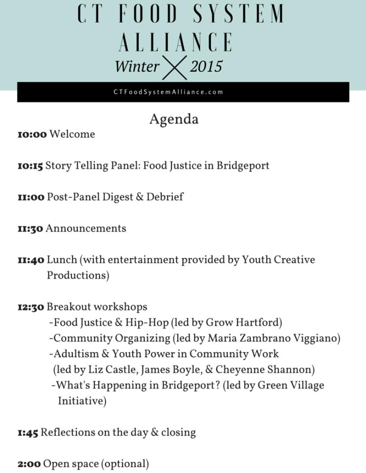 CFSA Dec Gathering Agenda